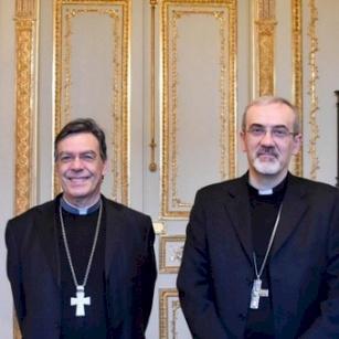 Mgr Pierbattista Pizzaballa en visite éclair à Paris