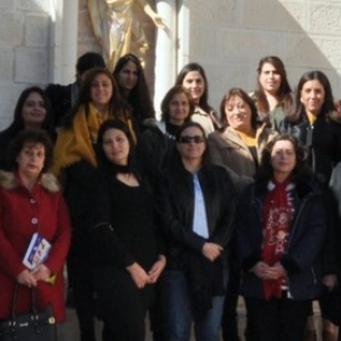 Christian schools catechists participate in a spiritual retreat in Taybeh