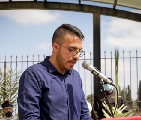 """أمين عام الشبيبة المسيحية في فلسطين رافي غطاس في أحد الشعانين: """"فلنتذكر دائماً أننا الحراس الحقيقيون لهذه المدينة!"""""""