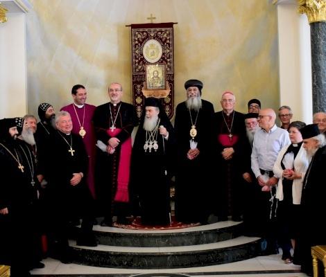 Le Patriarche Pizzaballa en visite au Patriarcat grec orthodoxe pour adresser ses vœux de Pâques