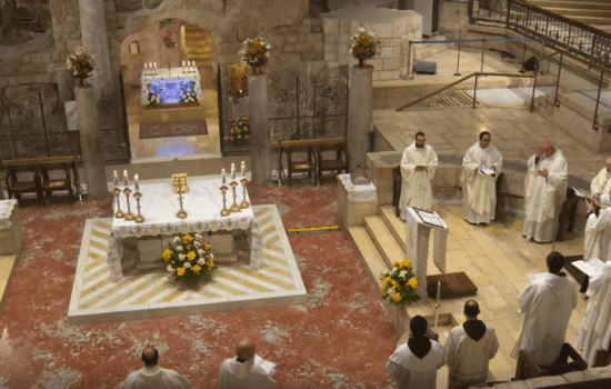 Nazareth: Holy Mass on the Solemnity of Annunciation of the Lord