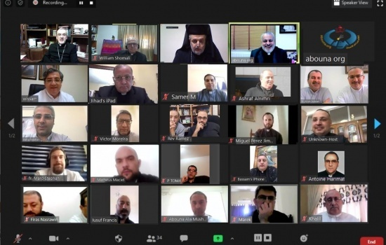 Latin Patriarchate priests hold spiritual retreat through Zoom application