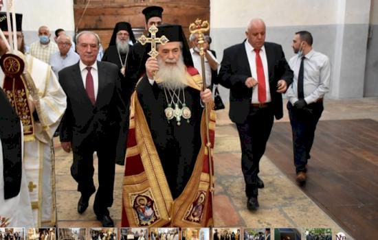 H.H.B. Theophilos celebrates Holy Mass at the Nativity Church in Bethlehem