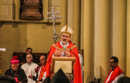 Patriarch Pierbattista Pizzaballa sends greetings to Jerusalem Diocese
