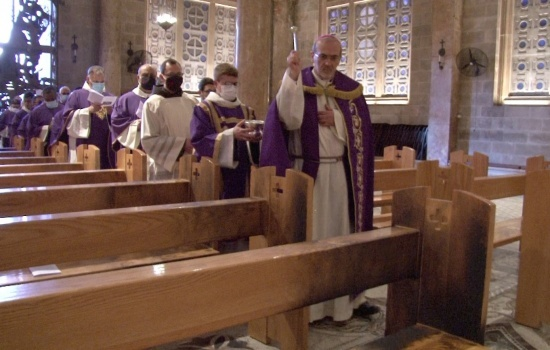 Gethsemane in prayer: Mass in reparation of arson attack
