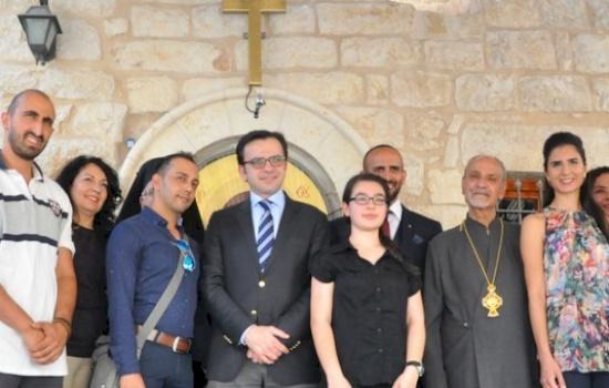 El Ministro de Cultura de Palestina destaca el apoyo al Centro de Iconos de Belén