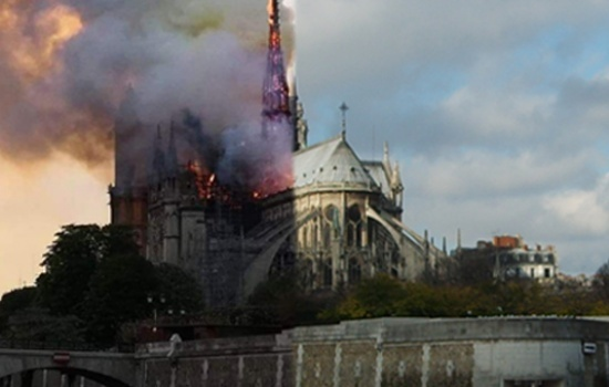 Holy Land Christian leaders pray for Cathedral of Notre-Dame of Paris following fire
