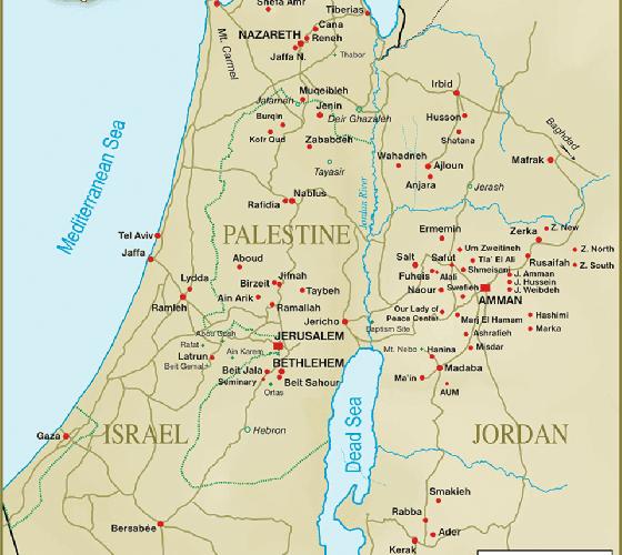 Mapa de la diócesis