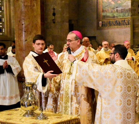 Chrism Mass celebrated at Basilica of All Nations in Gethsemane