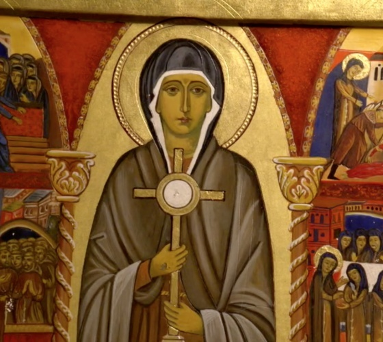 الاحتفال بعيد القديسة كلارا الأسيزية في دير راهبات الكلاريس في القدس