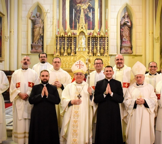 Two Latin Patriarchal Seminarians invested to the Soutane in Jerusalem