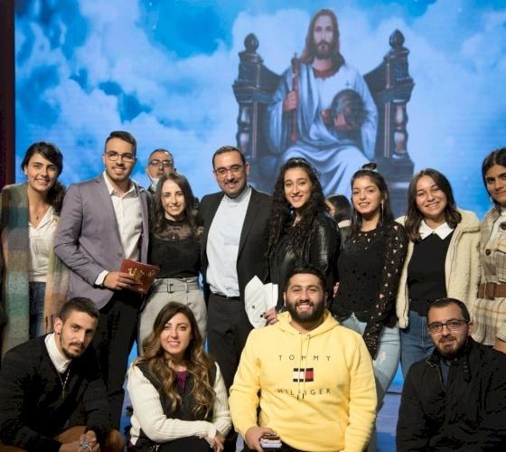 """الأمانة العامة للشبيبة المسيحية في فلسطين تحتفل بـ """"عيد يسوع الملك"""""""