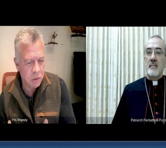 Le congratulazioni di Re Abdullah II di Giordania a S. B. Mons. Pizzaballa per la nomina a Patriarca Latino di Gerusalemme