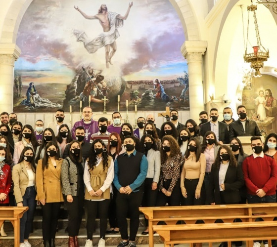Ramallah: Patriarch Pizzaballa meets with Youth of Jesus' Homeland