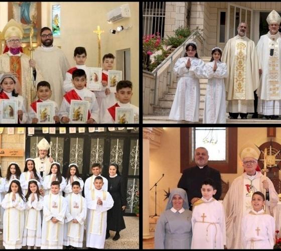 Le parrocchie del Patriarcato Latino celebrano i Sacramenti della Prima Comunione e della Confermazione