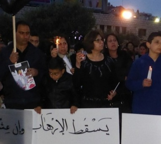 Nazareth and Bethlehem express solidarity with the Coptic community