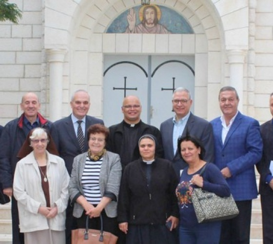 Coordinating Catholic Aid Organizations meet with Christian Youth and Christian institutions in Gaza