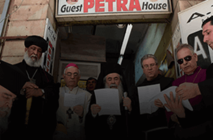 Heads of Jerusalem Churches hold prayer rally
