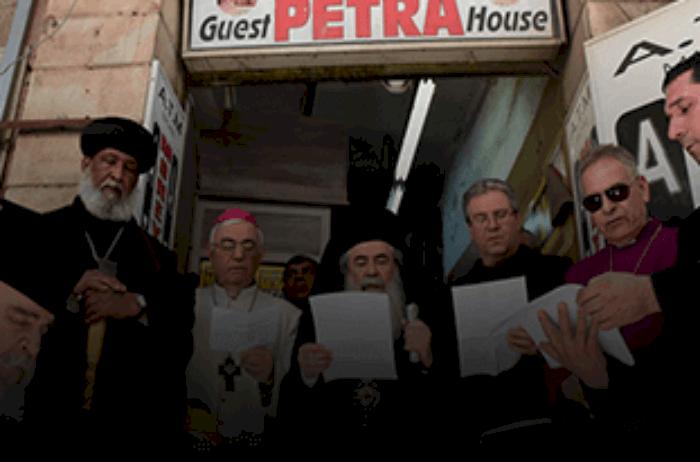 Heads of Jerusalem Churches hold prayer rally