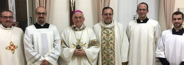 Three young Latin Patriarchate seminarians instituted as lectors and acolytes