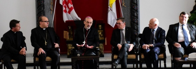 Apostolic Administrator receives Austrian Delegation at Latin Patriarchate