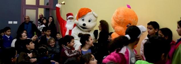 Regali di Natale ai bambini presso la Misericordia di Betlemme