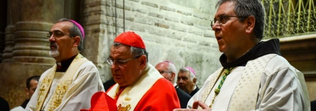 Cardinal Dominik Duka makes solemn entry to the Holy Sepulchre