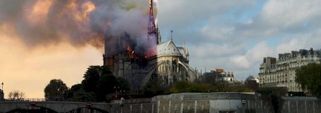 """رؤساء الكنائس في الأرض المقدسة يتضامنون مع كنيسة فرنسا وكاتدرائية """"نوتردام"""" في باريس"""