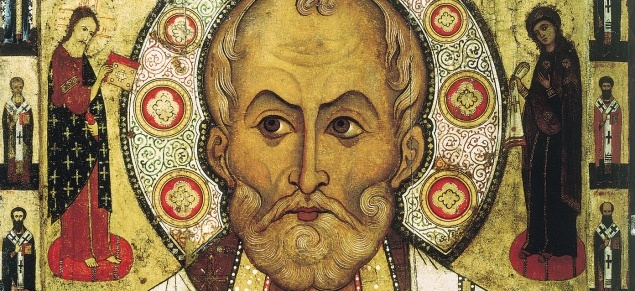 St. Nicholas of Bari, the Christian bishop who inspired the character of Santa Claus