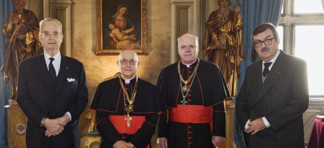 Official welcome of Card. Filoni, new Grand Master to Order of Holy Sepulchre
