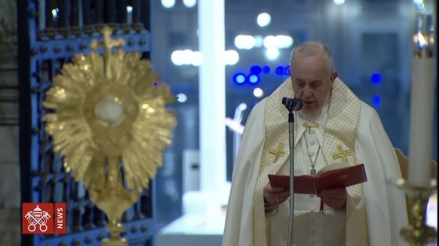 Homily of Pope Francis during Extraordinary moment of prayer for end of Covid-19 pandemic