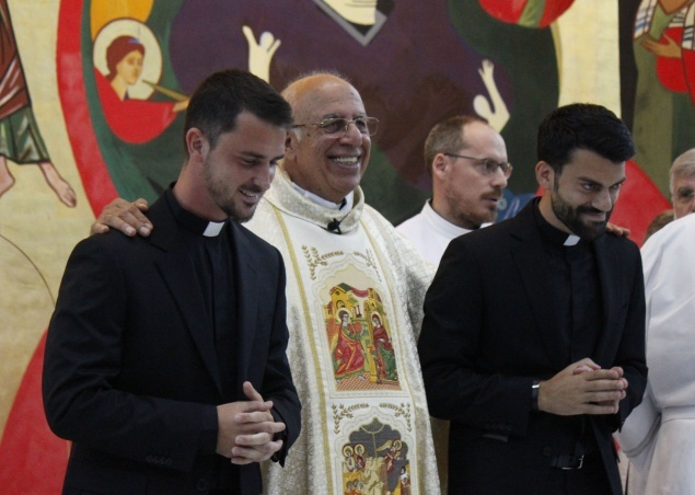 Two seminarians of the Redemptoris Mater Seminary of Galilee admitted to the orders
