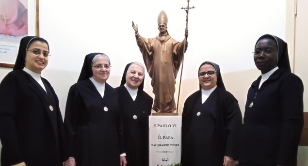Teaching Sisters of St. Dorothy pray for families and migrants