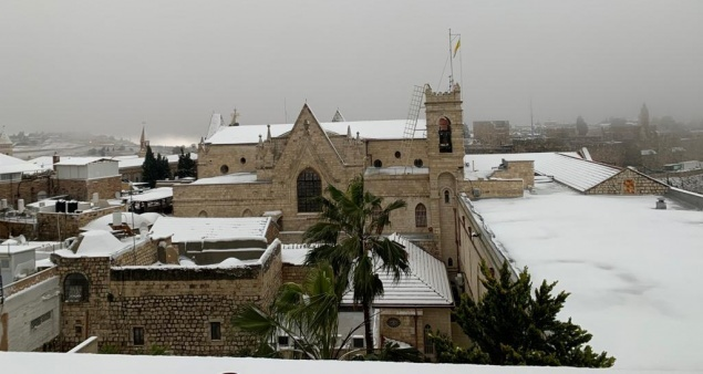 In pictures: Holy Land adorned with snow