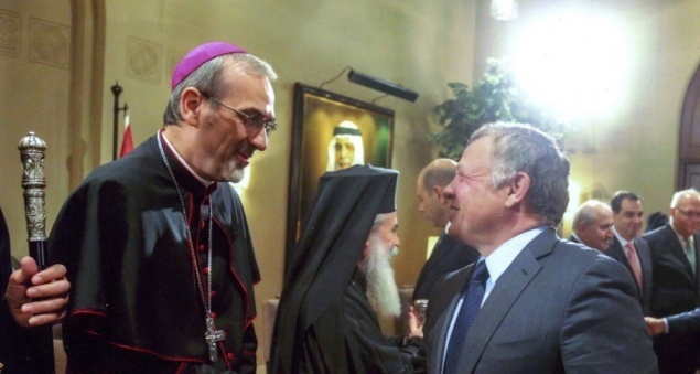 Le Patriarche Pizzaballa félicite le Roi Abdallah II à l'occasion du centenaire de la Jordanie