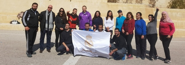 Real Madrid Visits Latin Patriarchate School in Madaba