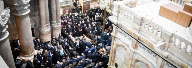 Una ceremonia ecuménica sin precedentes marca la inuaguración del Edículo de la Tumba de Cristo restaurado.