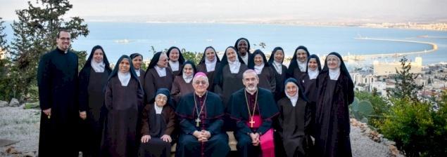 Festa al monastero carmelitano di Nostra Signore del monte Carmelo ad Haifa per i 125 anni dalla fondazione
