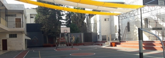 Shaded sports and recreational area project completed in Latin Patriarchate School in Gaza