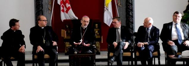 Apostolic Administrator receives Austrian Delegation at Latin Patriarchate