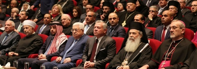 King Abdullah II celebrates Christmas ceremony with the Head of Churches of the Holy Land