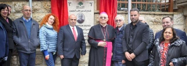Birzeit: intitolazione di una via del paese al Canonico Don Antonio Buso
