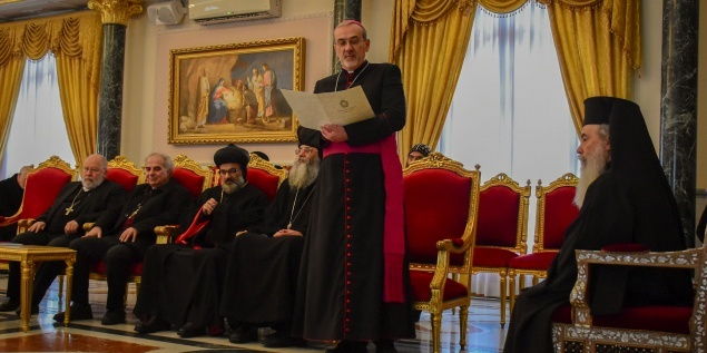 The Latin Patriarchate extends Christmas greetings at the Greek Orthodox Patriarchate